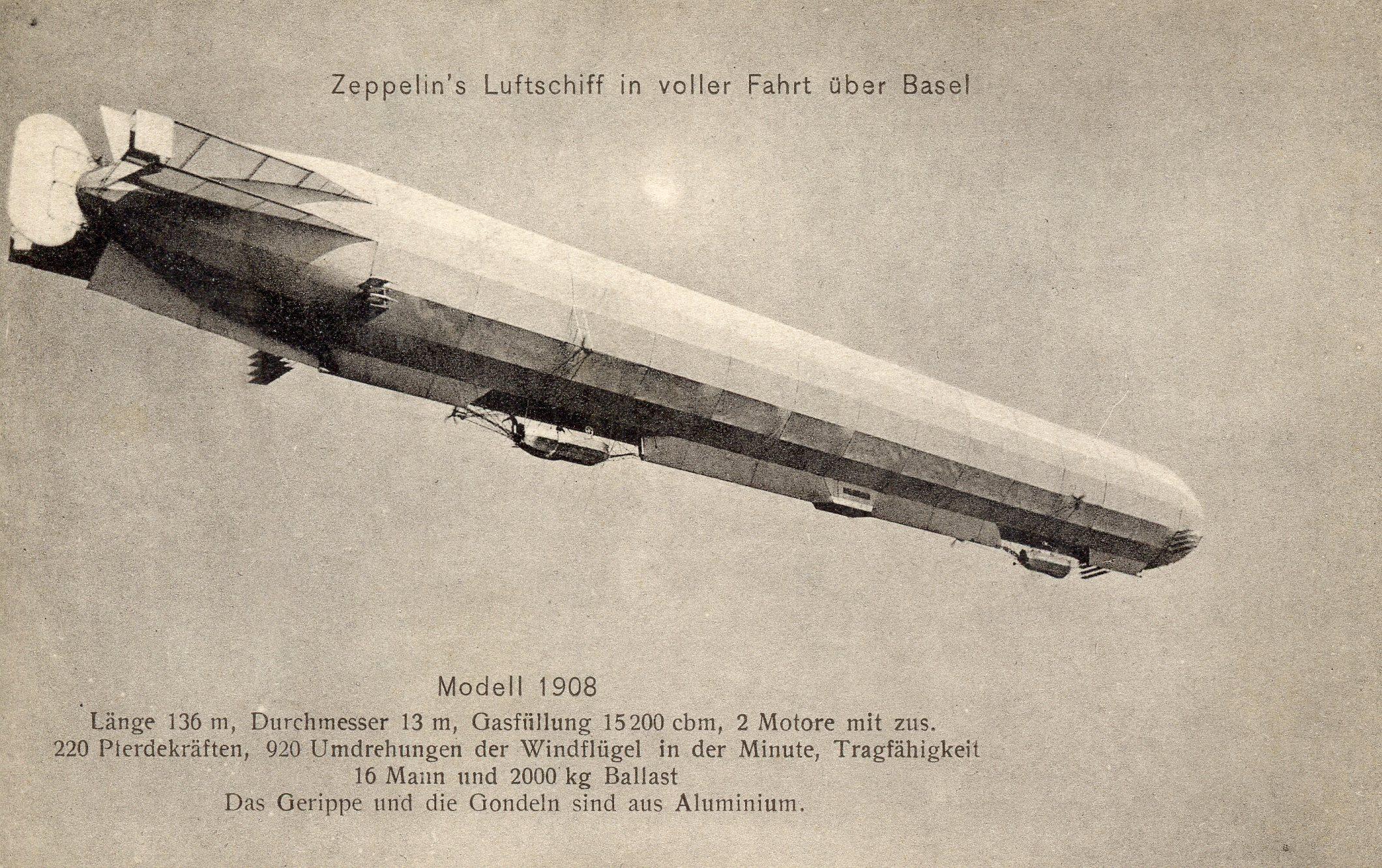 Das Luftschiff Zeppelin 1908