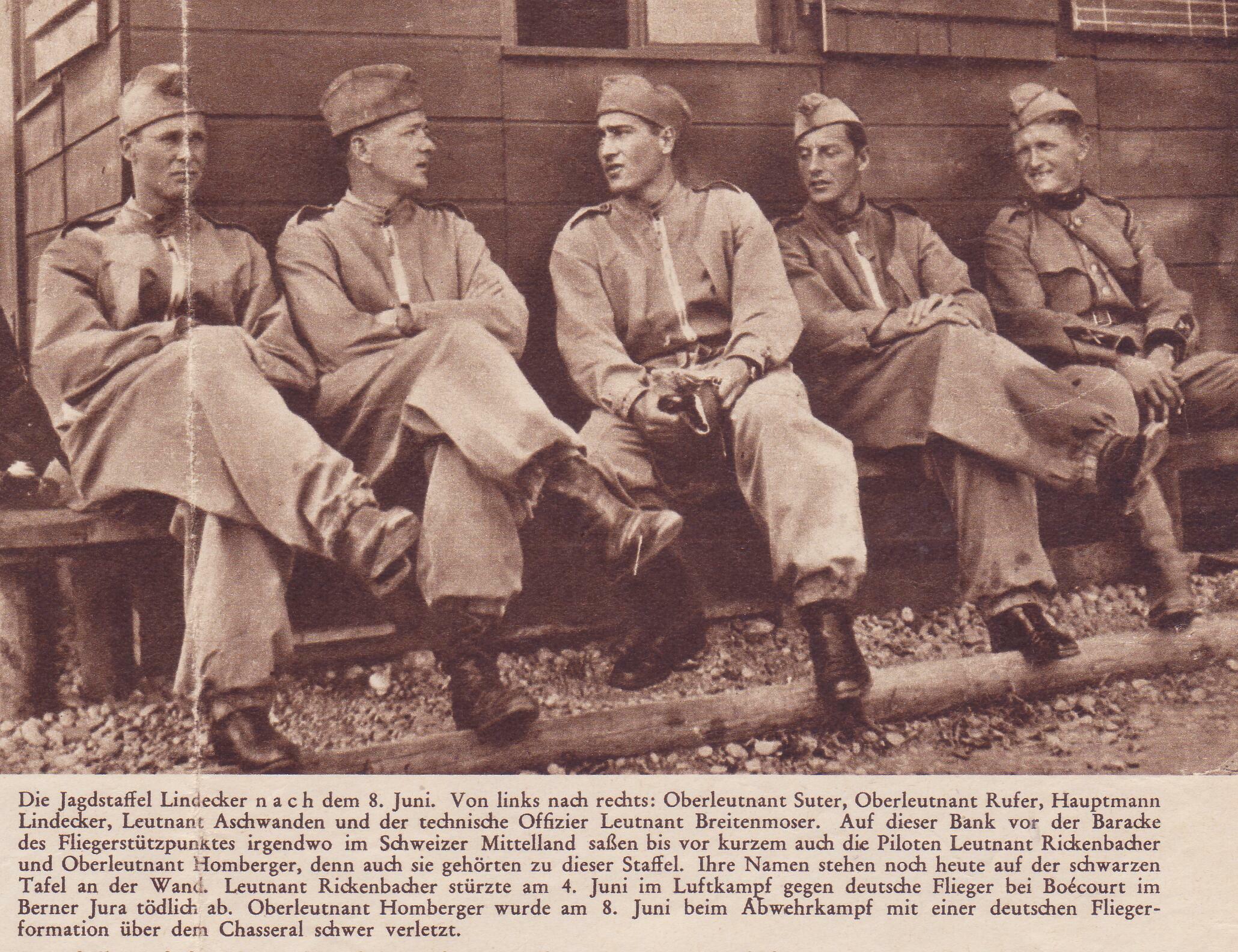 Jagdstaffel Lindecker nach dem 9. Juni 1940