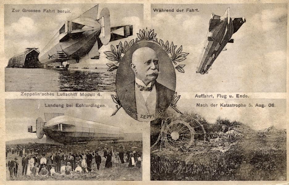 Luftschiffe galten als grösste Bedrohung im Luftkrieg