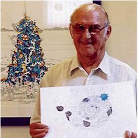 Gian Gross mit Einstrichbild
