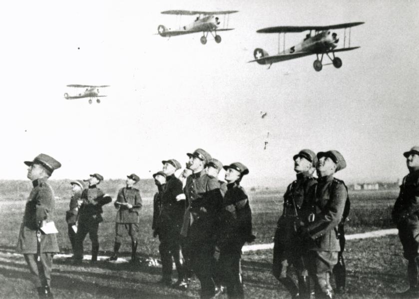 Flugvorführung Hanriot HD-1 (?), 1930