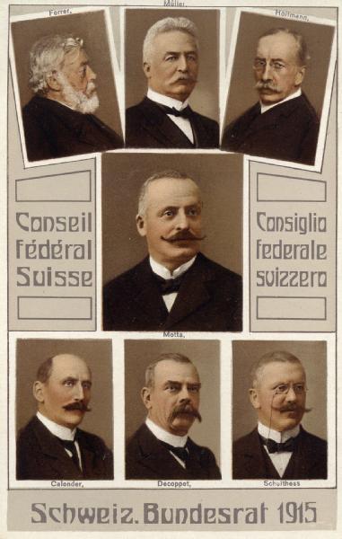 Das Bundesratsfoto von 1915